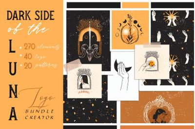 Dark side of the LUNA logo bundle