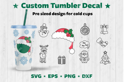 Christmas design set to customize your Cold Cup Tumbler.