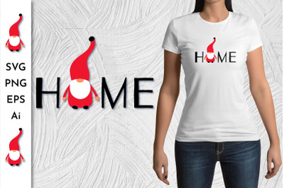Gnome Home. Gnome SVG. Gnome Clipart.