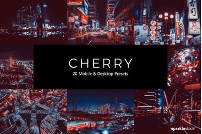 20 Cherry Lightroom Presets & LUTs