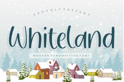 Whiteland Modern Handwritten Font
