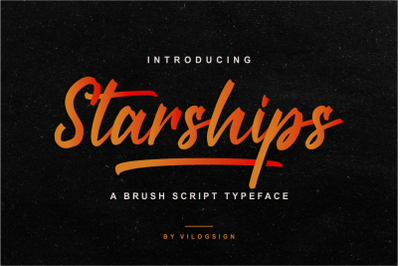 Starships a Brush Script Typeface