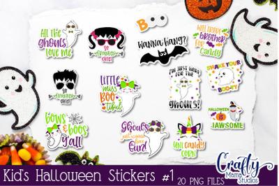 Kids Halloween Sticker Bundle, Halloween Stickers, Fun Kid's