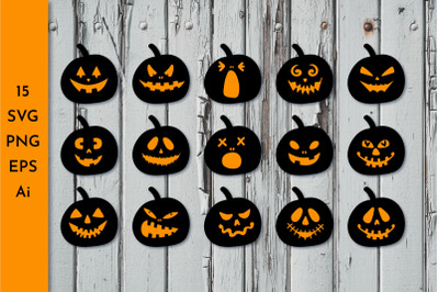 Pumpkin Faces. Halloween face. Jack o lantern faces. Pumpkin faces svg