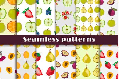 "Seamless patterns ""Fruit mood"""