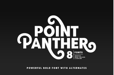 Point Panther (8 BOLD FONTS)