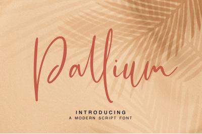 Pallium - a modern script font