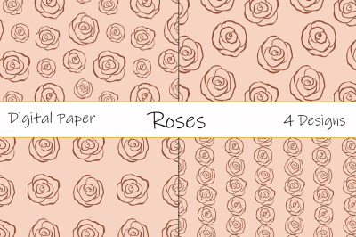 Roses pattern vector. Roses flower pattern vector. Roses SVG