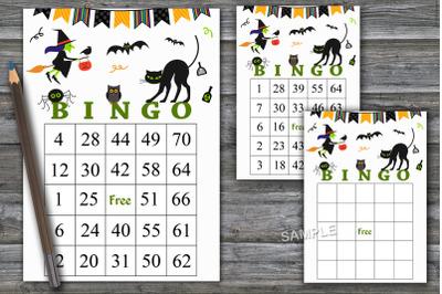 Halloween bingo game,Halloween bingo cards,Halloween Party ,--39