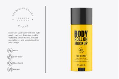 Glossy Deodorant Rollon Mockup