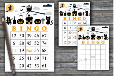 Halloween bingo game,Halloween bingo cards,Halloween Party-43
