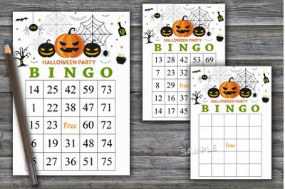 Halloween bingo game,Halloween bingo cards,Halloween Party-44