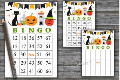 Halloween bingo game,Halloween bingo cards,Halloween Party-45