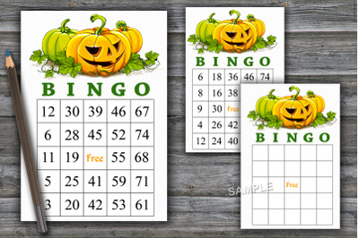 Halloween bingo game,Halloween bingo cards,Halloween Party-48
