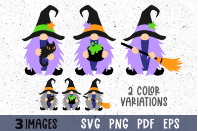 Witch svg Halloween gnomes svg Witch clipart Gnome clipart png