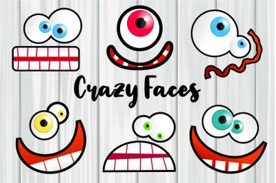 Crazy Funny Cartoon Faces