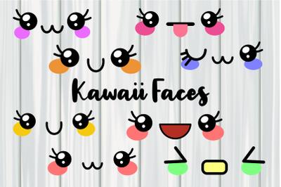 Kawaii Happy Cute Emoji Faces