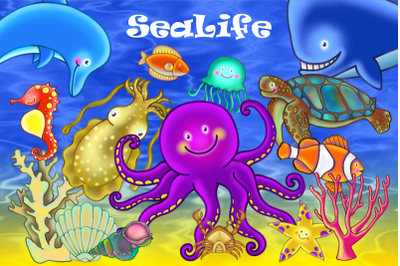 Underwater Sealife Aquatic Nature Clipart