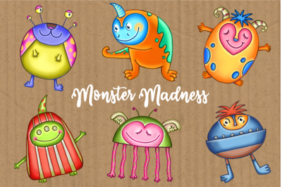 Monster Madness Funny Creature Clipart