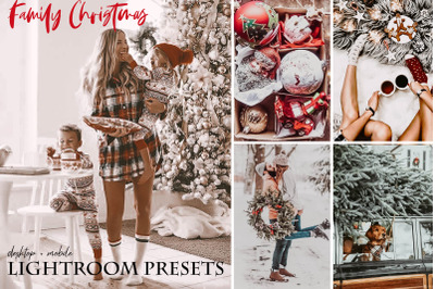 Family Christmas Lightroom Presets