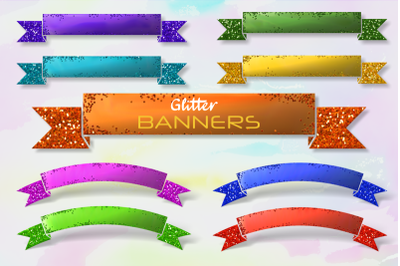 Glitter Glam Luxury Shiny Banner Borders