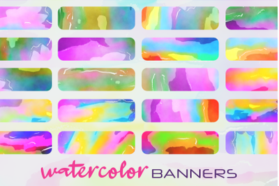 Funky Watercolor Background Banners