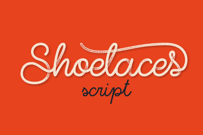 Shoelaces font