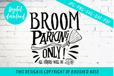 Halloween witch svg, broom parking only all others will be toad
