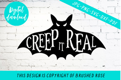 Creep it real halloween svg cut file