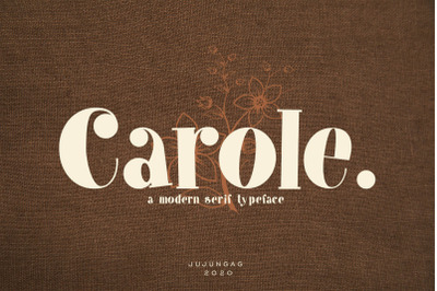 Carole Modern Serif Typeface