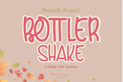 Bottler Shake a Display Font Typeface