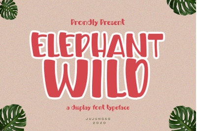 Elephand Wild a Display Font Typeface