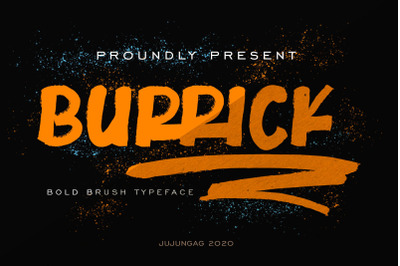 Burrick Bold Brush Typeface
