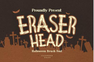 Eraser Head Halloween Brush Font