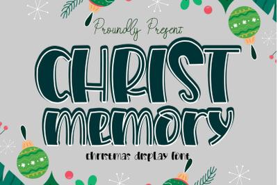 Christ Memory Display Font