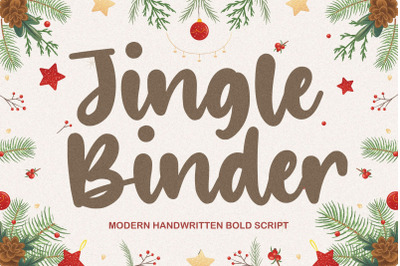 Jingle Binder Modern Handwritten Bold Font