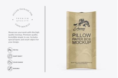 Pillow Box Packaging MockUp