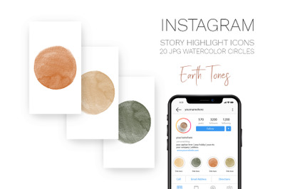 Story Covers for Instagram Earth tones Highlight icons
