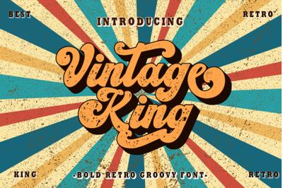 Vintage King - Retro Groovy Font