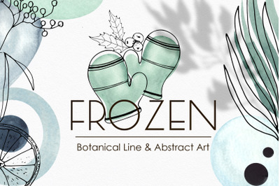 Botanical Winter Line Abstract Art