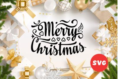 Christmas lettering svg