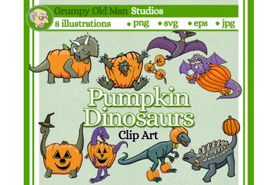 Pumpkin Dinosaurs - RAWR for halloween!