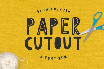 Paper Cutout Font Duo