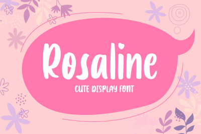 Rosaline - Display Font