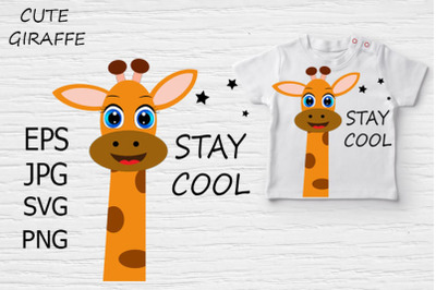 Cute Giraffe svg, Cute Giraffe clipart.