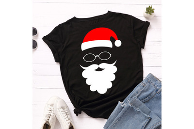 Cool Santa Claus christmas t shirt design.