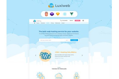 Luxiweb - Cloud and Hosting Template