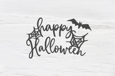 Happy Halloween cut file SVG, EPS, PNG, DXF