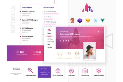 Portfoliux - Online CV Template