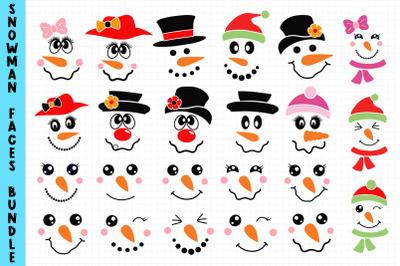 Snowman Faces Bundle